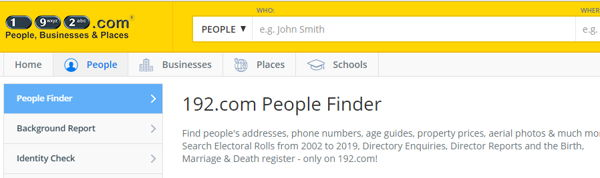 192.com best people finder