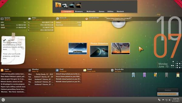 Orange Glow rainmeter skin