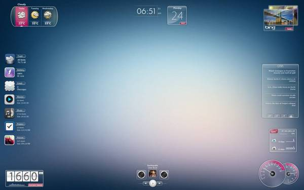 Speed rainmeter skin
