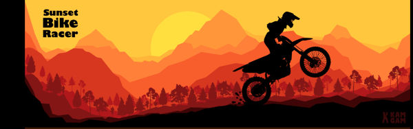 Sunset bike racer browser game