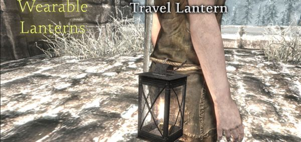 Wearable Lanterns skyrim mod