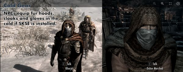 Wet and Cold Skyrim mod